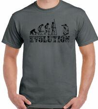 Evolución de fotografía para Hombre Divertido Camiseta fotógrafo de cámara lente bolsa trípode