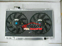 Alu Radiator +FAN For Toyota Supra MK 4 JZA80 2JZGE 2JZGTE 3.0L Twin Turbo 93-98