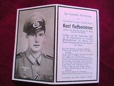 WW11 German Funeral Card