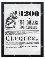 Historic Slave Trader Poster Advertising Postcard