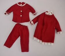 Vintage 1960s Sindy Frosty Nights Pyjamas 12S62 Cosy Nights Dressing Gown 12S64