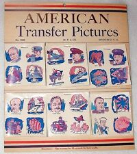 WWII VINTAGE ANTIQ KID TATTOOS AMERICAN TRANSFER PICTURES AWSOM DTL MADE IN USA!