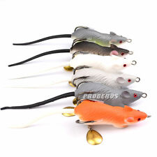 6pcs Lot Soft Mice Rat Lures Fishing Lure Bait Fishing Tackle 6.9cm/11.6g Mouse