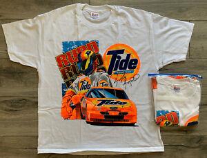 Vintage NASCAR Ricky Rudd Tide Racing Shirt Single Stitch Games XL Dead Stock