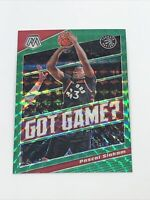 2019-20 Panini Mosaic Pascal Siakam Green Reactive Prizm Got Game? SP Raptors