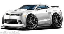 2014-16 Chevy Camaro Z-28 Cartoon Car Wall Decal Game Room Graphics Garage Cling