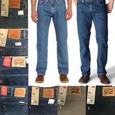 Levi's Men's 505 Straight Cut Regular Fit 5 Pocket Denim Blue Jeans