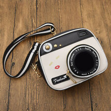 Women Camera Shape Cross Body Bag Small Handbag Zipper Adjustable Long Strap