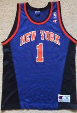 Size 44 Mens New York Knicks Basketball Jersey #1 Michael Lee Pre Owned Clean