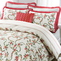 Victorian Style Rose Floral Ruffle Quilt Duvet Cover Bedding Bed Linen Set