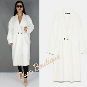 Zara AW 2019/20 Oversized Cotton Coat RRP 79 Free P&P Brand New