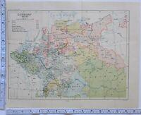 Landkarte/Kampf Plan Deutschland 1600-1763 Hannover Preußen Österreich
