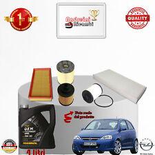Filtres Kit D'Entretien + Huile Opel Corsa C 1.3 CDTI 51KW 70CV à partir de 2004