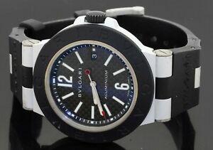 Bvlgari Aluminum AL 44 TA 44mm automatic men's watch w/ date & carbon fiber dial