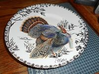 "New 222 Fifth Golden Hill Gold Turkey Thanksgiving 8 1/2"" Plate (s)"