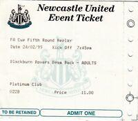 Ticket - Blackburn Rovers v Newcastle United 24.02.99 FA Cup - BeamBack