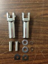CHROME PASSENGER FOOTPEG CLEVIS MALE FOOT PEGS HARLEY SOFTAIL FLST FXST 2007-UP