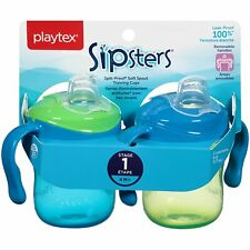 Playtex Sipsters Soft Spout Sippy Cups - 6 Oz, 2 Count (Blue-Green)