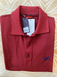 BRAND NEW ISAIA Solid POLO T-Shirt RED (Size: Medium)