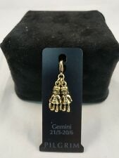 Pilgrim Charm Gemini Gold NWT