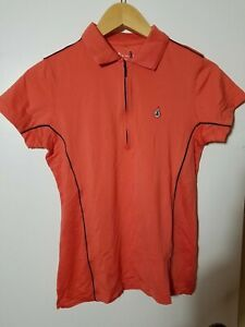 1 NWT PETER MILLAR WOMEN'S POLO, SIZE: SMALL, COLOR: CORAL (J81)
