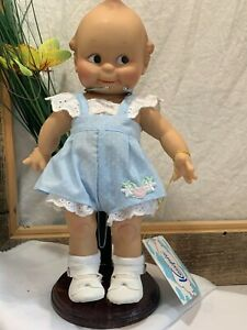 """NEW 2004 Kewpie Doll- Classic Blue Romper Cameo Collections Jesco 12"""""""