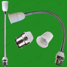 600mm BC B22 To ES E27 Flexible Omnidirectional Bulb Holders Sockets Adaptor