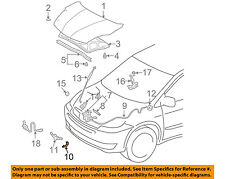 TOYOTA OEM Hood-Release Cable Clip 9008446032