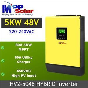 5000w 48v 230vac Hybrid Solar inverter grid tid + off grid max solar power 5kw