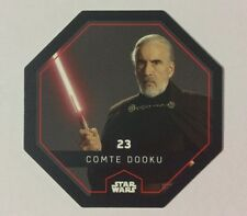STAR WARS Jeton 23 COMTE DOOKU Cosmic Shells E.Leclerc Collector Image