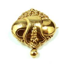 Biedermeier Brosche Gold & Silber #2 antique victorian brooch pin 19.Jh.
