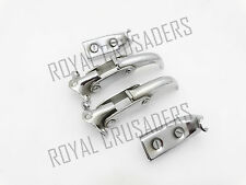 WILLYS JEEP 50-52 M38s CJS FORD CHROMED WINDSHIELD INTERIOR LATCH KIT (CODE 1505