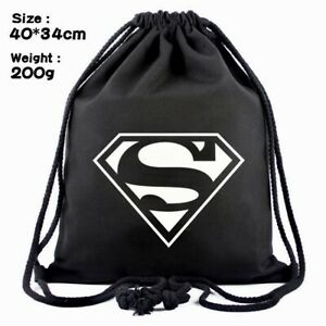 Superman DC  Backpack Draw String Gym Bag Canvas Casual
