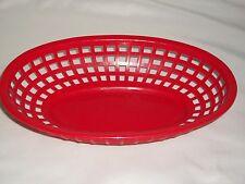 Red BBQ Deli Plastic Set 6 Basket Sandwich Fish Patio Burger Serving Picnic Food