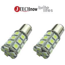2 x BA15D 1142 27x 5050 SMD Car LED White Light Bulb