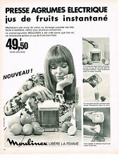 PUBLICITE ADVERTISING  1969   MOULINEX  le presse-agrumes