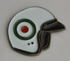 Italian Roundel Mod Target Scooter Helmet Enamel Pin Badge
