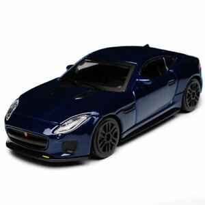 JAGUAR F TYPE R 1:43 Scale Model Miniature Toy Car Diecast Models Die Cast Blue