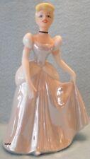 """Disney Resort Cinderella Porcelain Bisque Glossy Figurine 6"""" Brand New In Box"""