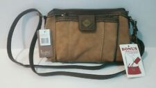 NWT Born concept B.O.C purse with bonus wristlet clutch, tan, olive, walnut