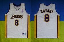 ● RARE KOBE BRYANT LOS ANGELES LAKERS NBA JERSEY CHAMPION SIZE BOYS (11-12Y) L ●