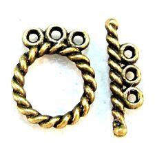 50Sets Wholesale Tibetan Antique Bronze 3-Strand Toggle Clasps Hooks Q0577