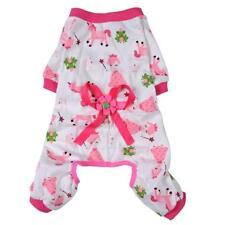 Dog Puppy Shirt Clothes Jumpsuit Pet Apparel Cat Pajamas Costume Pink S