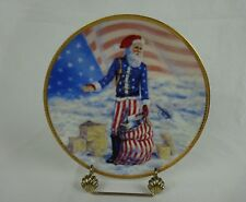 "Duncan Royale Civil War Santa ~ 8 1/2"" Plate Limited Edition ~ Euc"