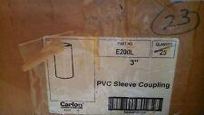 """Carlon E200L 3"""" pvc sleeve coupling"""