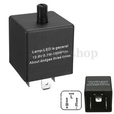 3-Pin Electronic LED Adjustable Flasher Relay Fix Car Turn Signal Light Blinker