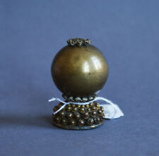LARGE & PERFECT ANTIQUE CHINESE PEKING GLASS HAT FINIAL BUTTON QING DYNASTY