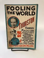 Fooling The World Howard Thurston 1928 pitch book Fooling Millions Magician 1st