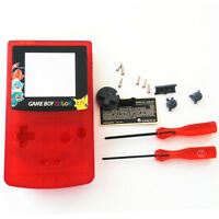 Pokemen Charmender Housing Shell for Nintendo Game boy Color GBC - Clear Red