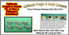 Work Benches w/Wire Leg Material-6ft Long-6kits N/1:160-CAL Freight & Details Co